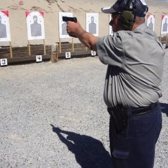This is me, Mr. G, taking a four day defensive handgun course at Front Sight Firearm Training Institute in Las Vegas, NV on October 2nd 2014.